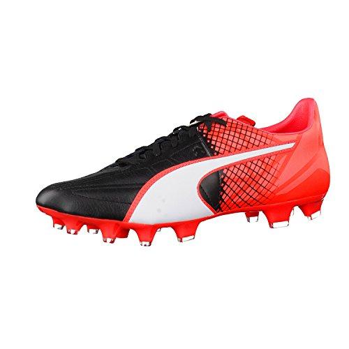 Puma Herren Evospeed 3.5 Lth Fg Fußballschuhe schwarz - weiß - rot