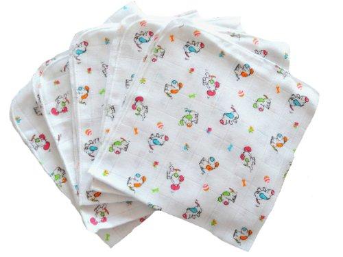 Babymajawelt 13583 Mull Waschlappen Doggy 40/40, 5er Pack