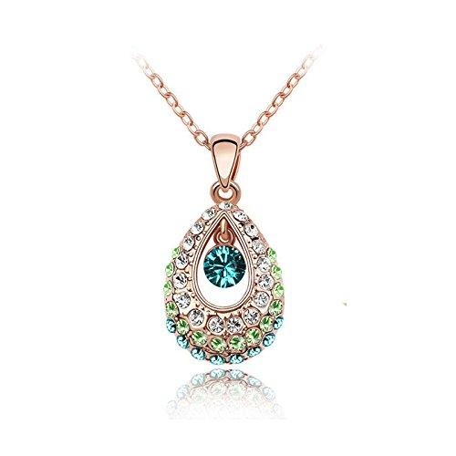Nakabh Multicolour Elegant Crystal Stone Pendant for Girls and Women