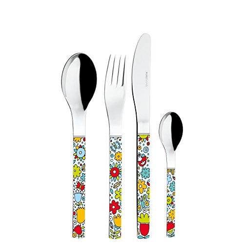 Puresigns 3300500 Color Your Life Frühstücksset 5-teilig Guten Appetit, Edelstahl poliert, mit Geschirrtuch, bunt