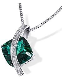 Goldmaid - C2605S - Collier Femme - Argent 925/1000 6.9 gr - Oxyde de Zirconium Vert