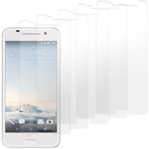 HTC One A9 Displayschutzfolie - 5 Stück - Premium Folien Kristallklar mit Anleitung für HTC One A9