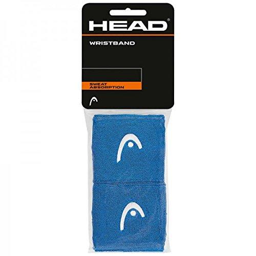 Head Schweißbänder 2er Pack 2.5 inch, Farbe:blau