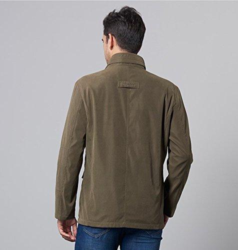 WS668 Herren Stehkragen Fashion Lose Mantel Classic Retro Militär Jacken Outdoor Softshell Tops Mens Billig Jackets Armygrün