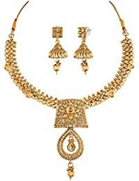 Apara Gold Plated Necklace Set With LCT Stone And Kundan For Women