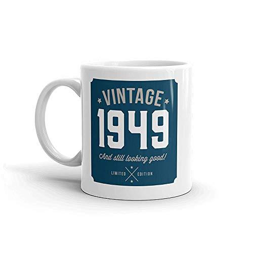 70th Birthday, 70th regalo de cumpleaños, 70 regalos de cumpleaños para los hombres, 70th regalos de cumpleaños para las mujeres, de 1946, de 1946, taza de café, cerámica, azul
