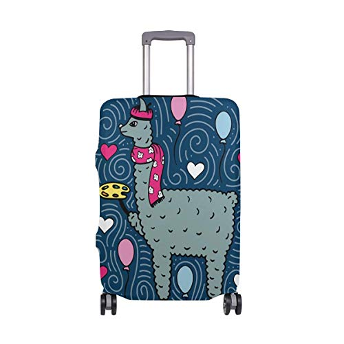 Luggage Cover Lama-Artist with The Palette Suitcase Protector Baggage Fits 19-39 Inch,Size:S