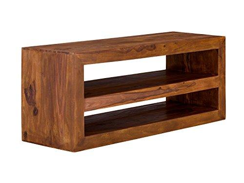 massivum TV-Schrank Cube 130x55x45 cm Palisander braun gewachst (Tv-schränke Palisander)