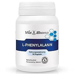 L-Phenylalanin, Brain-Booster, hochdosiert, 60 HighResorp-Kapseln in 100% bioverfügbarer Formulierung