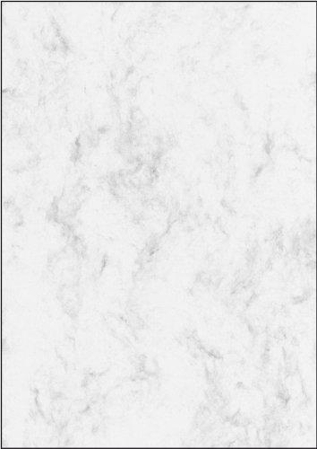 Sigel DP396 Marmorierter Karton / Papier grau, A4, 50 Blatt, Motiv beidseitig, 200 g - weitere Farben