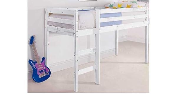 Shorty Mid Sleeper Bed Frame - Whitewash.: Amazon.co.uk: Kitchen & Home