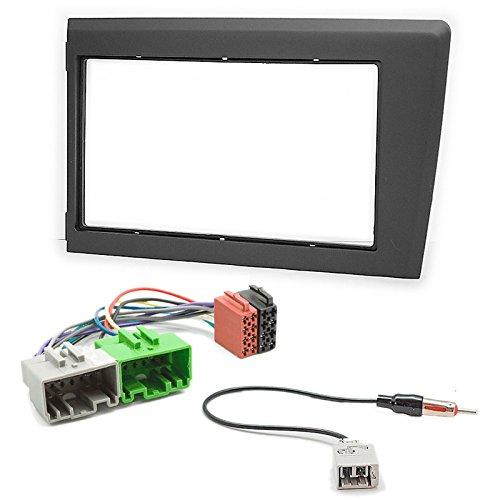 carav 11-587-38-5 Doppel DIN Autoradio Radioblende Set DVD Dash Installation Kit für S60 2000-2004; V70, XC70 2001-2004 mit ISO Adapter und Antennenadapter Iso Dash