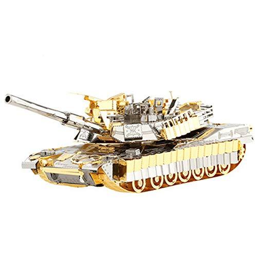 MQKZ Us-Armee kampfpanzer m1a2 montiert Modell Spielzeug 3D Puzzle Metall Dekoration Kind Hands-on Puzzle Festival gedenken Geschenk Messing + Wasser zangen 13,5 * 4 * 5 cm