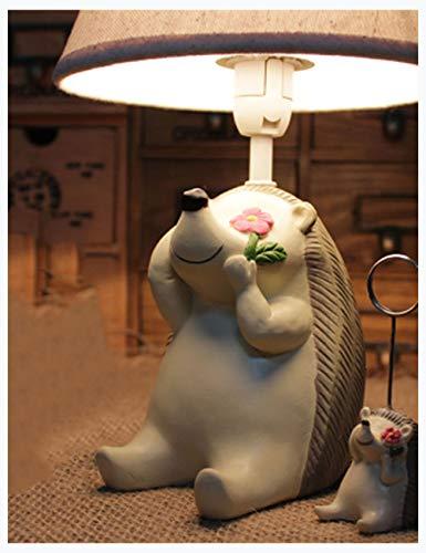 XiuXiu Niños idílicos Dibujos Animados lámpara de Erizo Dormitorio lámpara de Noche Linda Personalidad Creativa lámpara de Mesa Decorativa (Color : B)