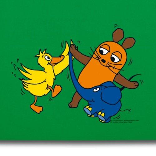 Sendung Mit Der Maus Tanzt Mit Elefant Und Ente Stoffbeutel von Spreadshirt® Kelly Green