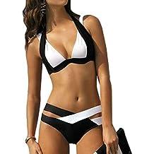 TUDUZ Damen Bikini Push Up Gepolstert Bademode Schwimmen Beach Bikini-Sets Badeanzug