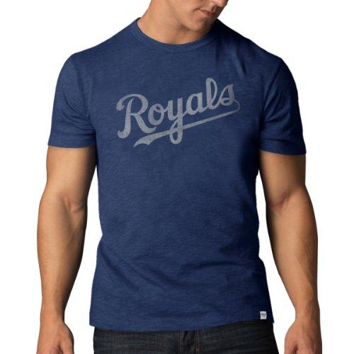 MLB Herren '47 Basic Scrum Tee, Herren, Bleacher Blue, Large -