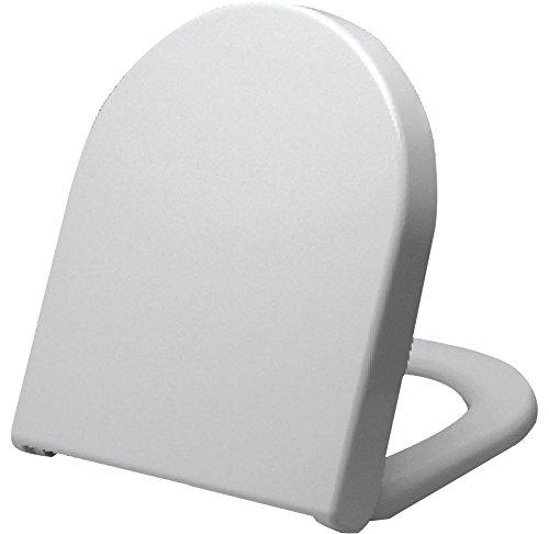 Grünblatt WC Sitz 515053 für Duravit Starck 3, Hochwertiges Material Duroplast, Soft-Close/Metal Scharniere, weiß