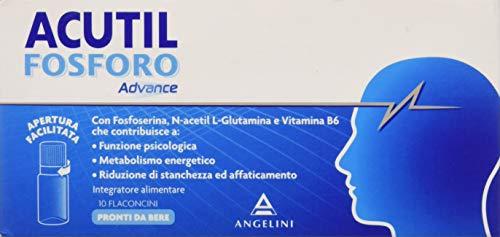 Acutil Fosforo Advance Pronti da Bere Integratore Alimentare - 10 flaconcini