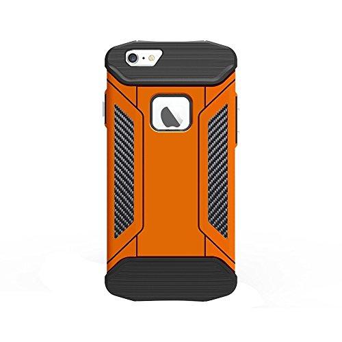 Pour iPhone 6 / 6s, TPU + PC Steel Armor Combination Case JING ( Color : Orange ) Orange