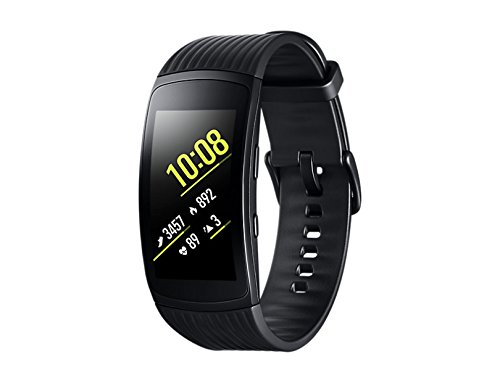 Samsung Gear Fit2 Pro Smartband, Black (Large), GPS, Impermeabile 5 ATM [Versione Italiana]