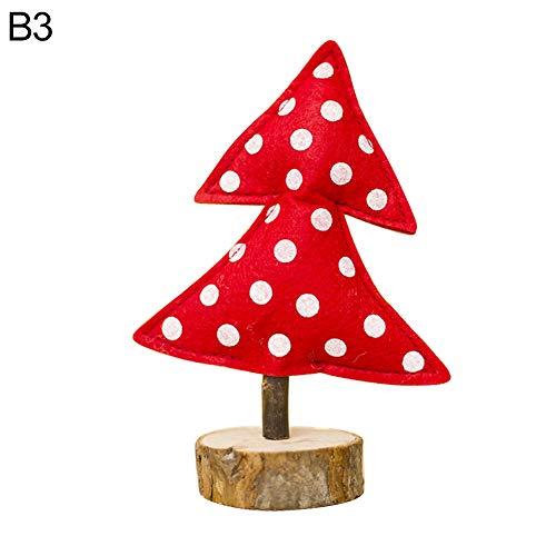 Huhuswwbin Weihnachtsdekoration, Mini-Weihnachtsbaum, gestreift, gepunktet, aus Holz, Dekoration für Zuhause, Party, Kinderspielzeug - C3#, B3 (Für Party-stadt-kostüme Babys)