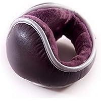 SUPRERHOUNG Desgaste Plegable Acolchado de Cuero de la PU Orejeras cálidas Winter Outdoors Earwarmer (Azul) (Color : Purple, tamaño : 13cm)