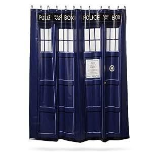 Doctor Who TARDIS Rideau de douche