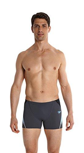Speedo Herren Badeanzug Fit Aquashorts mit Passe Oxid Grey/Fresh Water/Black