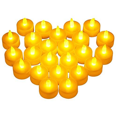 24 LED Kerzen, LED Flammenlose Tealights, Flackern Teelichter, elektrische Kerze Lichter Batterie Dekoration für Weihnachten, Weihnachtsbaum, Ostern, Hochzeit, Party [Batterien enthalten], Molorical