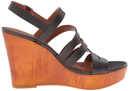 Lucky Brand Larinaa Femmes Cuir Sandales Compensés Black