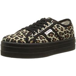 Victoria Blucher Leopardo Plataforma - Zapatillas de deporte de tela para mujer negro negro 38