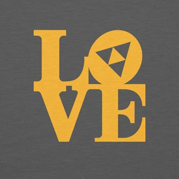Planet Nerd - Triforce Love - Damen T-Shirt Grau