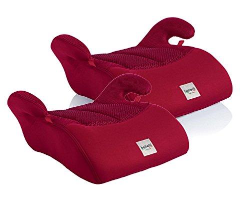 2X Rialzo per sedile auto Eos Rosso 15-36kg ECE R44/04