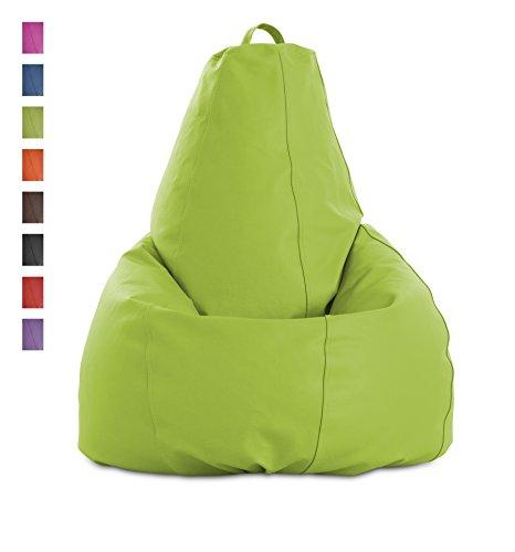 textil-home Puf - pera moldeable XL Puff - 80x80x130 cm- Color Pistacho. Tejido Polipiel Alta Resistencia - Doble repunte - (Incluye Relleno Bolas Poliestireno).