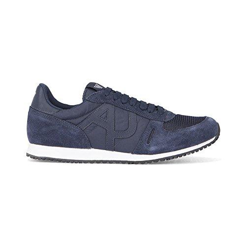 AJ Armani Jeans 6A420 Sneakers Uomo Scamosciato Blu Blu 41