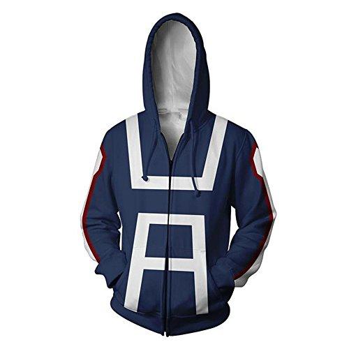 Zhangjianwangluokeji Blau Hoodie Cosplay Sweatshirt Kostüm (XL, Blau - Base Jumper Kostüm