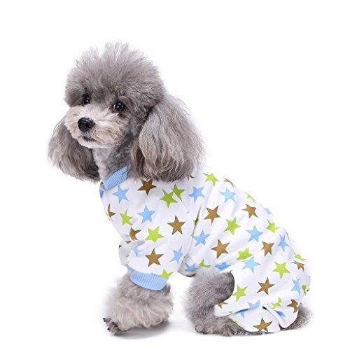 s-lifeeling Hund Kostüme Outfit Star Muster Komfortable Puppy Schlafanzug Weiche Hund Jumpsuit Shirt Best Geschenk 100% Baumwolle Mantel für kleine und mittlere (Erwachsene Einfache Halloween Kostüme Ideen)