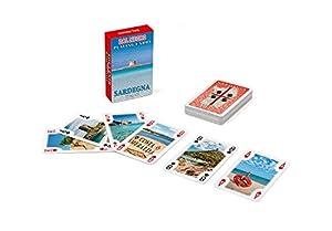 Dal Negro 23548-Juego de Cartas Mini Poker Souvenir Sardegna, Estuche Rojo