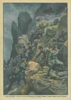 un-reparto-di-fanteria-inerpicandosi-per-un-difficile-canalone-conquista-a-sorpresa-cima-di-falzareg