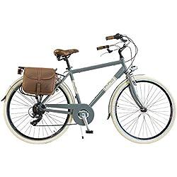 Via Veneto by Canellini Bicicleta Bici Citybike CTB Hombre Vintage Retro Via Veneto Aluminio (Gris, 54)