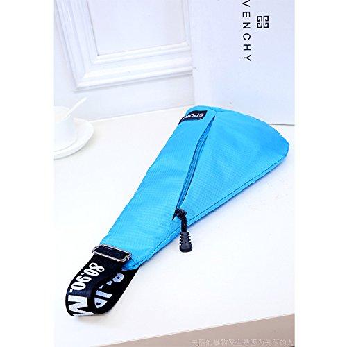 ANNE Pacchetto toracico Nylon leggero pacchetto impermeabile diagonale per le ragazze Blue