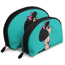 MFILM FVAFN I Love Fish Sac de Rangement Portable avec Fermeture Éclair pour Femme One Size Toda Mafalda 31