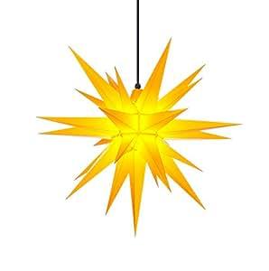herrnhuter sterne stern f r au enbereich 68cm gelb mit beleuchtung k che haushalt. Black Bedroom Furniture Sets. Home Design Ideas