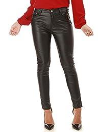 La Modeuse - Pantalon Noir Slim en Simili Cuir ba7e36a6cc7e