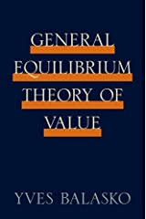 General Equilibrium Theory of Value Hardcover