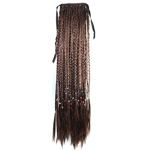 Brun clair 50 cm perruque de cheveux longs Synthétique perruque de cheveux Ponytail Extension de che