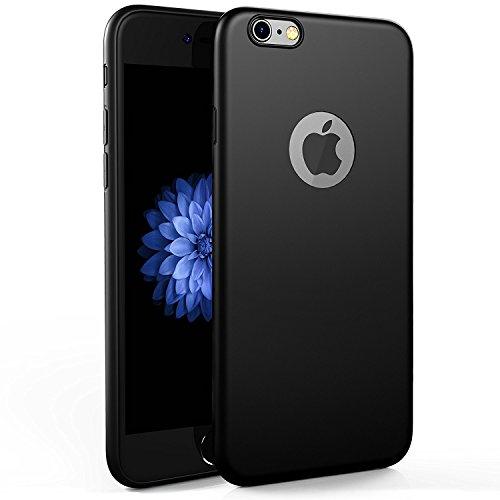 Egotude ESI001 Soft Silicone Slim Back Cover Case for Apple iPhone 6S & 6 Black