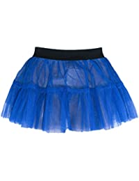 Ldies Womens Girls Tutu Skirt 1 Size Elasticated Fit, 4 Summer Colours
