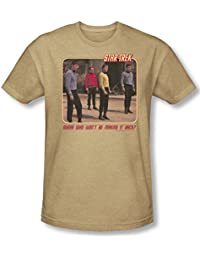 Star Trek - Mens Red Shirt Blues T-Shirt In Sand